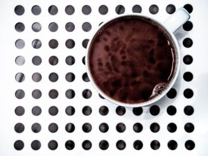 coffee pattern white background