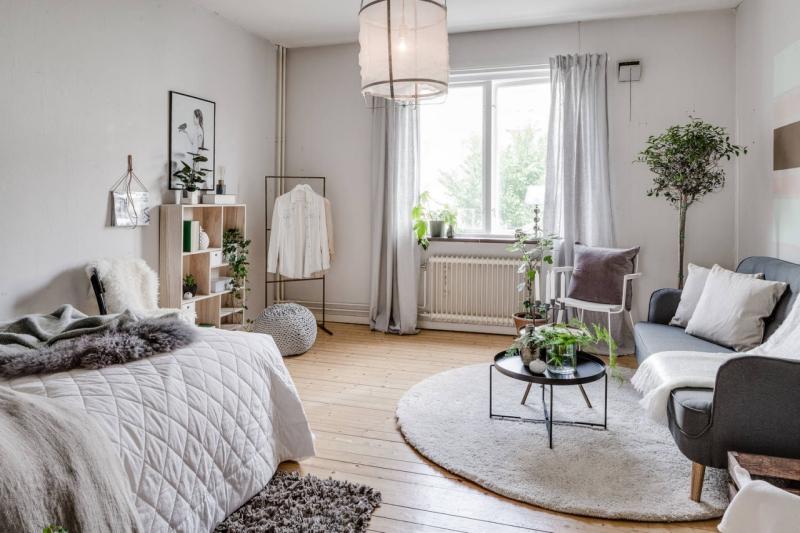 Studio apartment inspo via Apartment Therapy