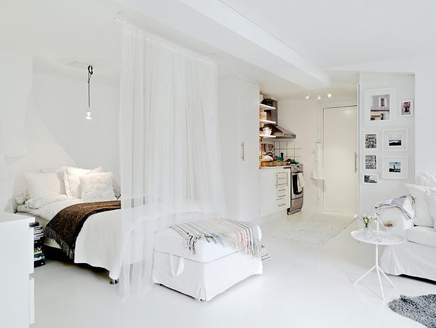 Studio apartment interior decor ideas via Design Bump