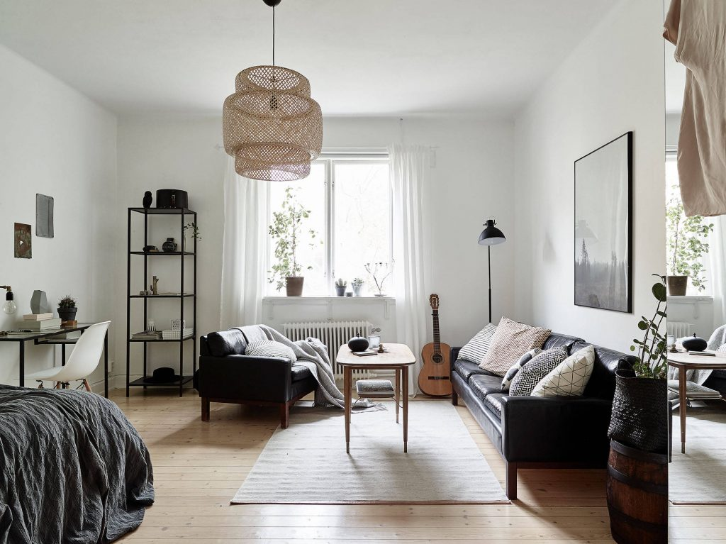 Swedish studio apartment via Stadshem