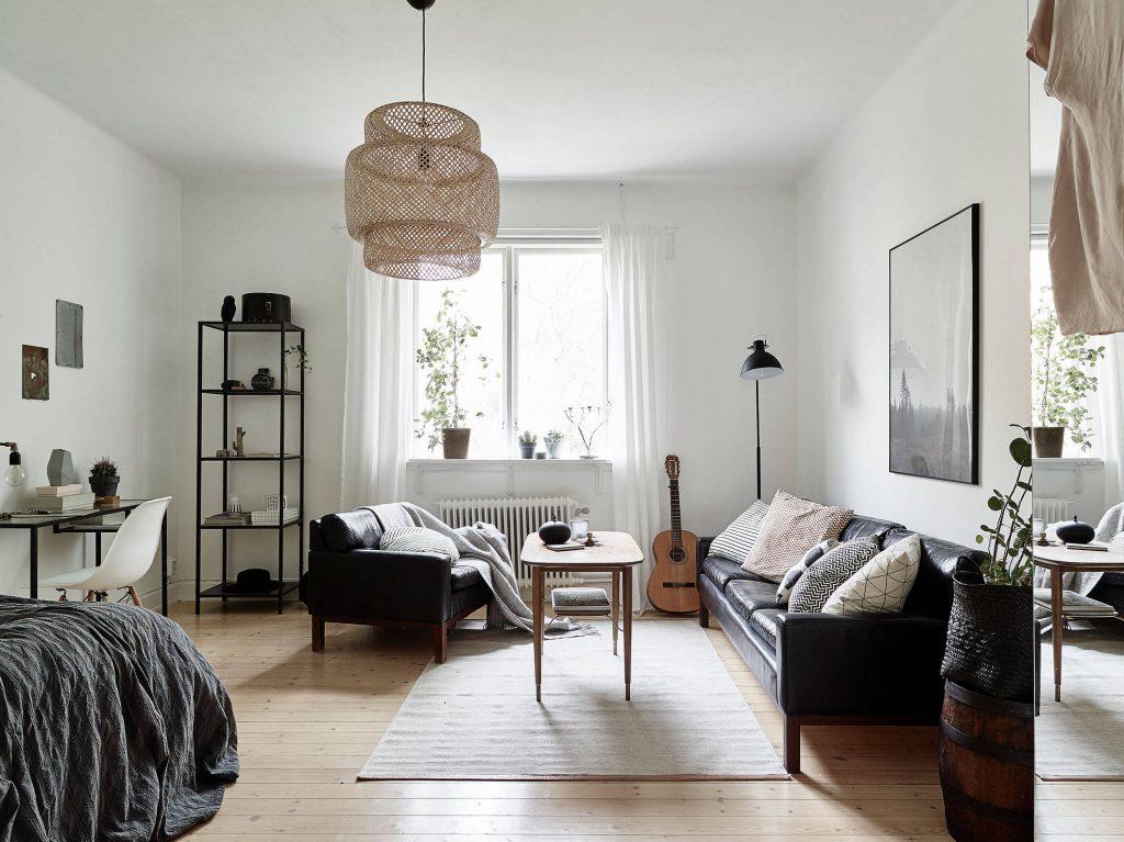 Swedish studio apartment via Stadshem
