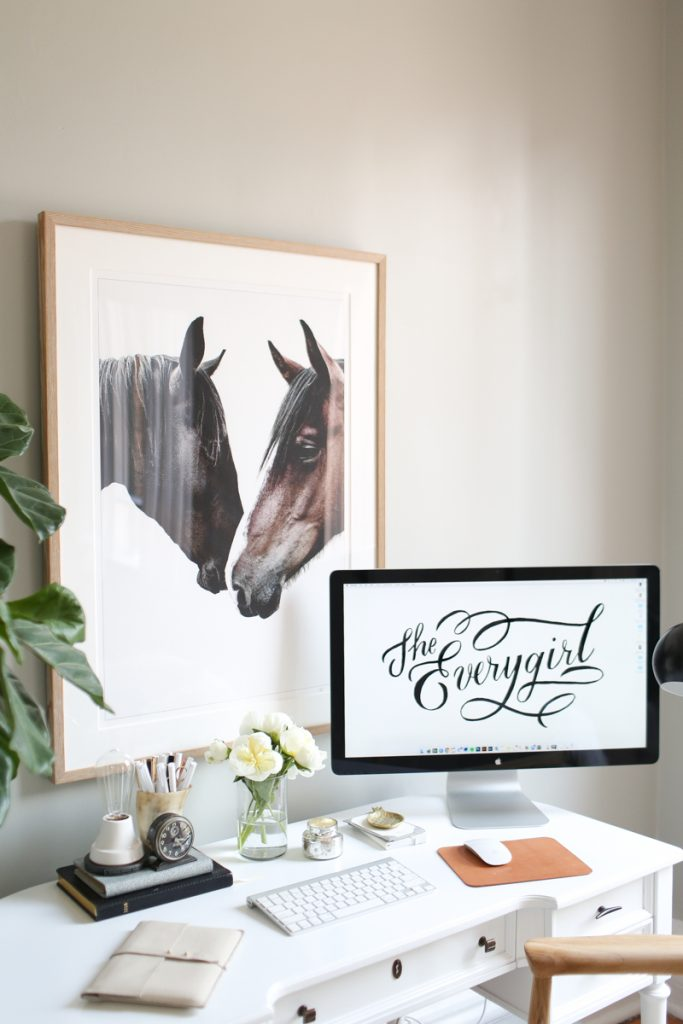 work space inspo via The Every Girl