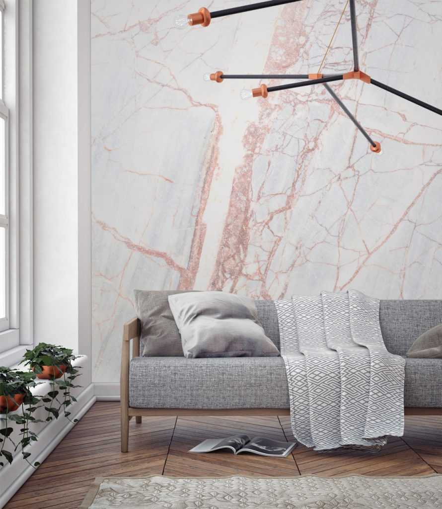 Marble wall paper interior decor inspiration