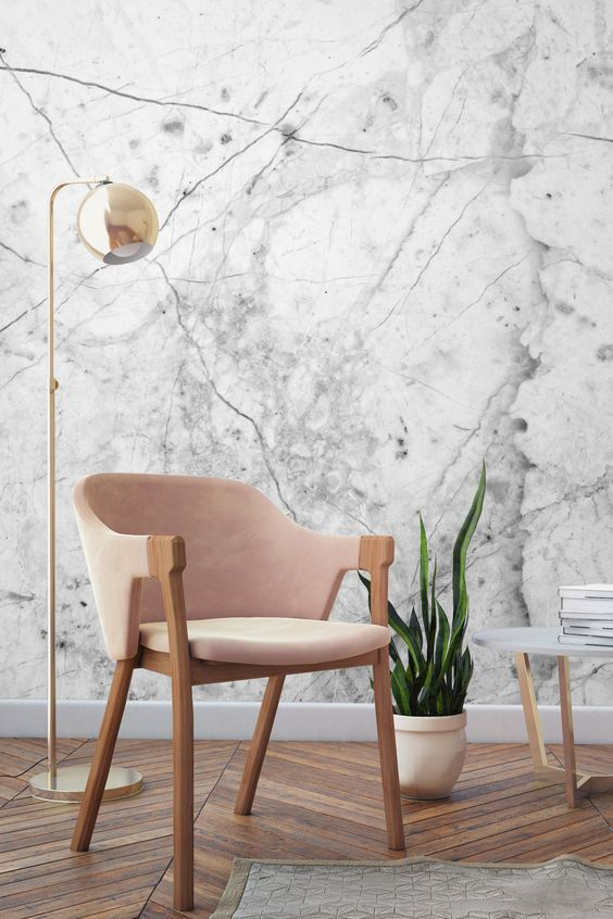 Marble wall paper inspiration | Pinterest