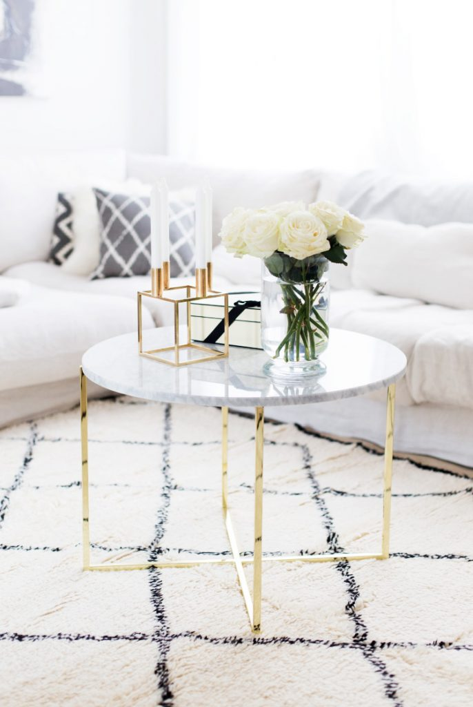 Marble coffee table interior decor inspo 2016