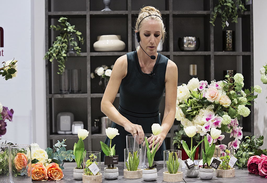 SIA flowers at IDdesign stores