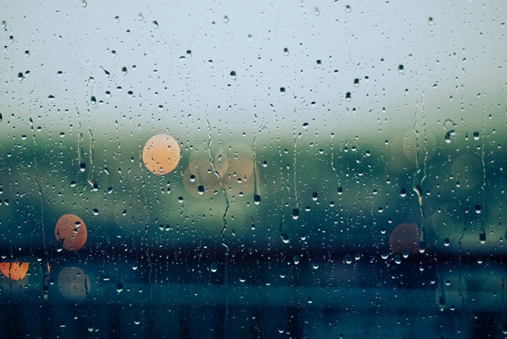 Rainy days cityscape photo